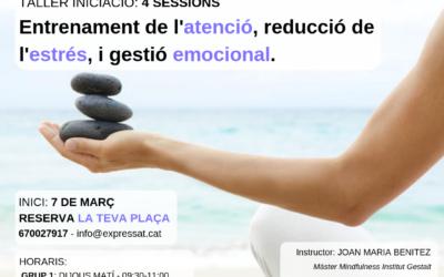 Nuevo Taller de Iniciación a la práctica de Mindfulness (marzo19)